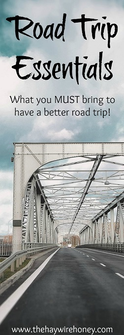 What to bring on a roadtrip around the United States or a local road trip.