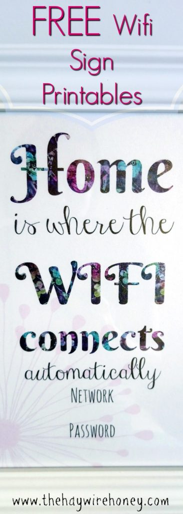 Free wifi sign printable for guest room ideas.