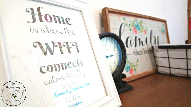 Free printable Wifi sign, guest room ideas